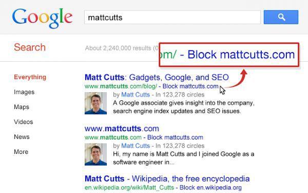 Vorschau Personal Blocklist for Chrome - Bild 1