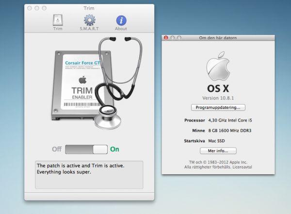 Vorschau Trim Enabler for MAC - Bild 1