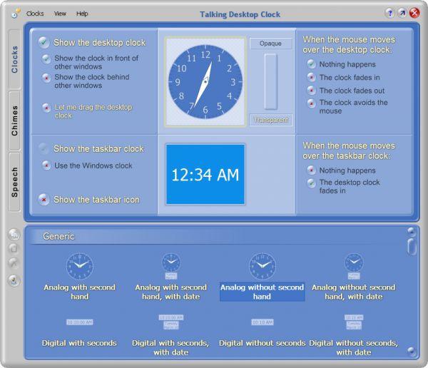 Vorschau Talking Desktop Clock - Bild 1