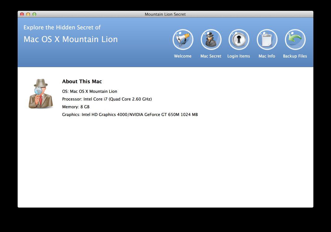 Vorschau Mountain Lion Secrets for Mac - Bild 1
