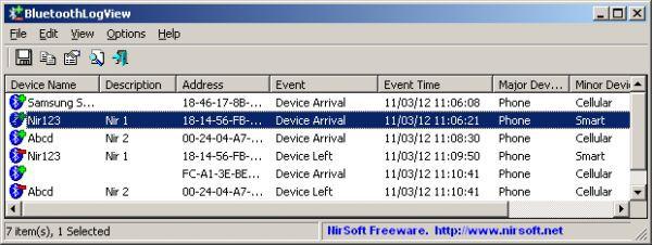 Vorschau BluetoothLogView - Bild 1