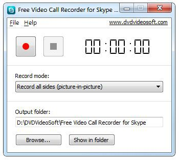 Vorschau Free Video Call Recorder for Skype - Bild 1