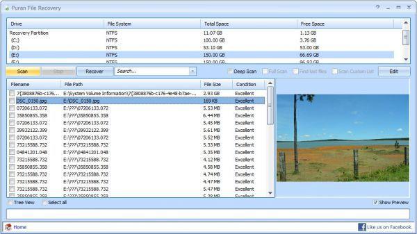 Vorschau Puran File Recovery - Bild 1