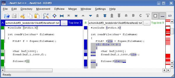 Vorschau KDiff3 for Linux - Bild 1