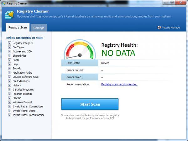 Vorschau Pointstone Registry Cleaner - Bild 1