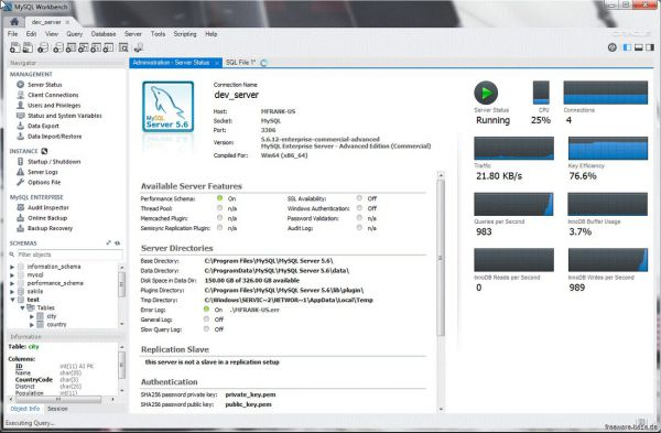 Vorschau MySQL Workbench for Windows - Bild 1