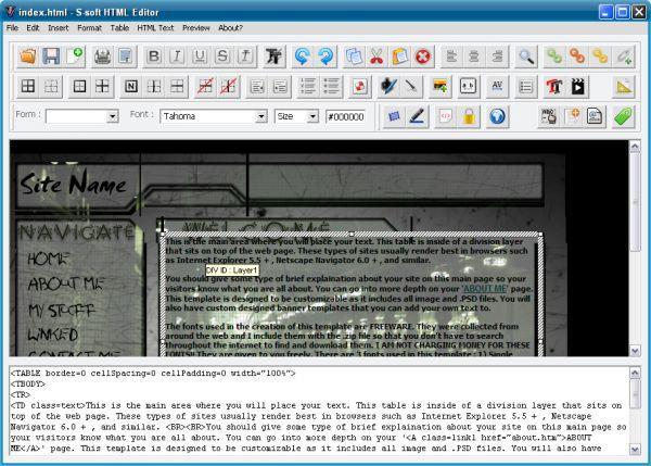 Vorschau S-soft HTML Editor Free - Bild 1