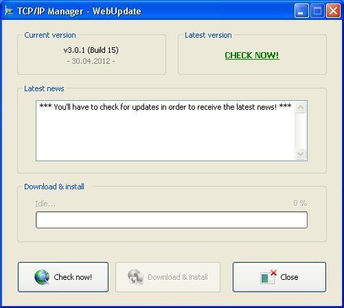 Vorschau TCP IP Manager - Bild 1