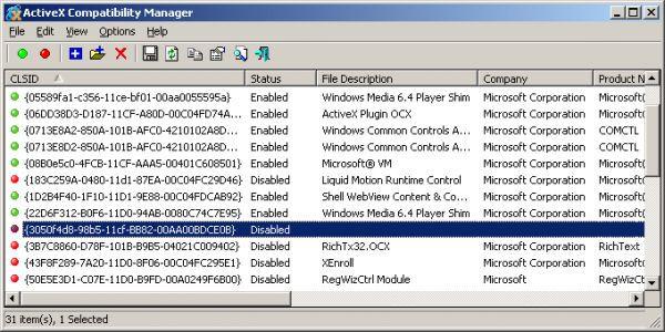 Vorschau ActiveX Compatibility Manager - Bild 1