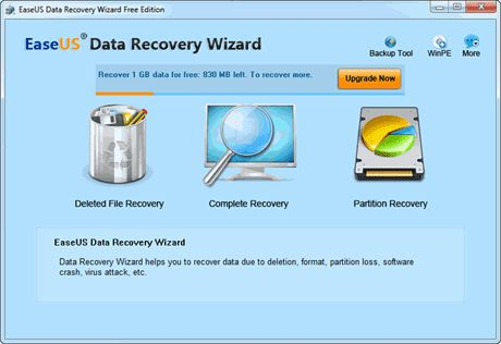 Vorschau EaseUS Data Recovery Wizard Free Edition - Bild 1