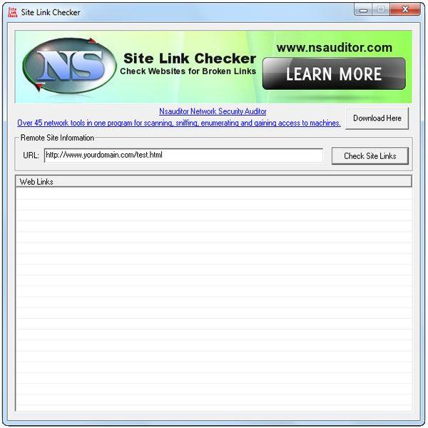 Vorschau SiteLinkChecker - Bild 1