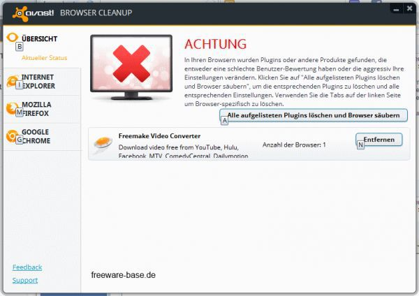 Vorschau avast! Browser Cleanup - Bild 1