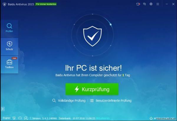 Vorschau Baidu Antivirus - Bild 1