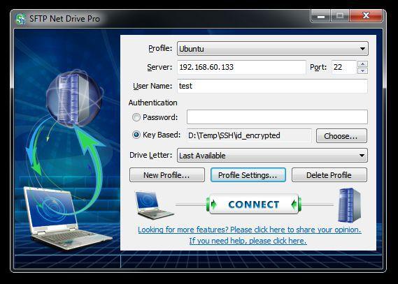 Vorschau SFTP Net Drive - Bild 1