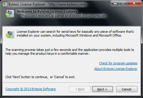 Vorschau Bytexis License Explorer - Bild 1