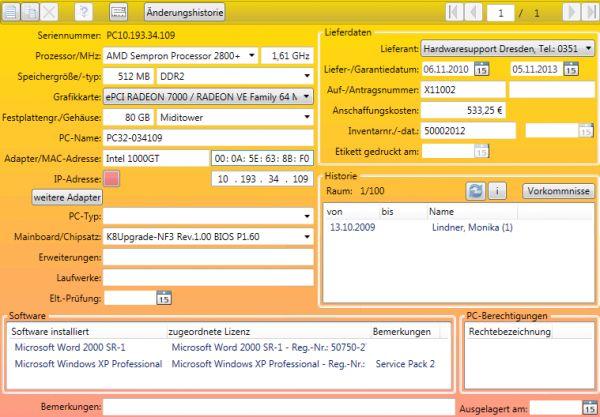 Vorschau Technisches Inventar-Freeware - Bild 1