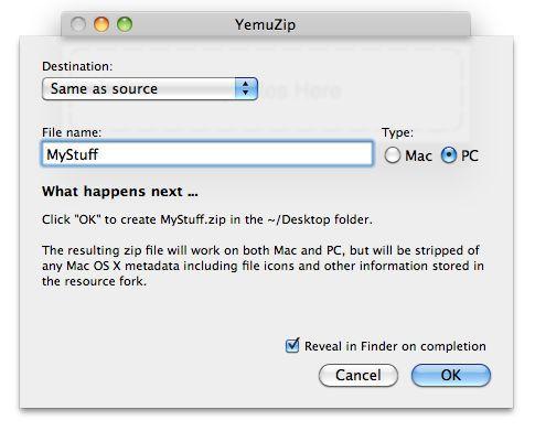 Vorschau YemuZip for Mac - Bild 1