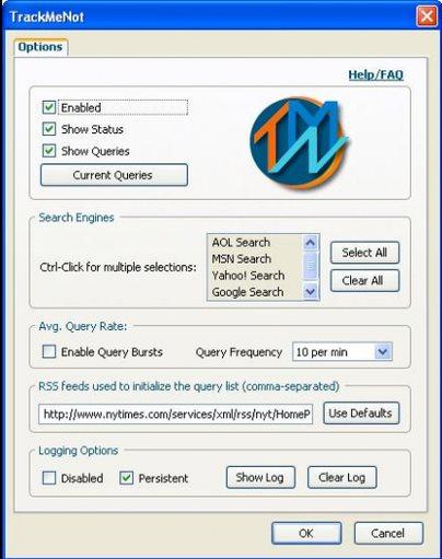 Vorschau TrackMeNot for Firefox - Bild 1