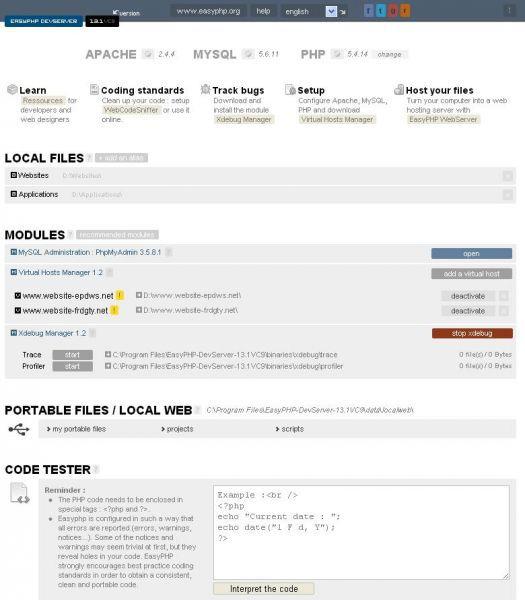Vorschau EasyPHP - Bild 1