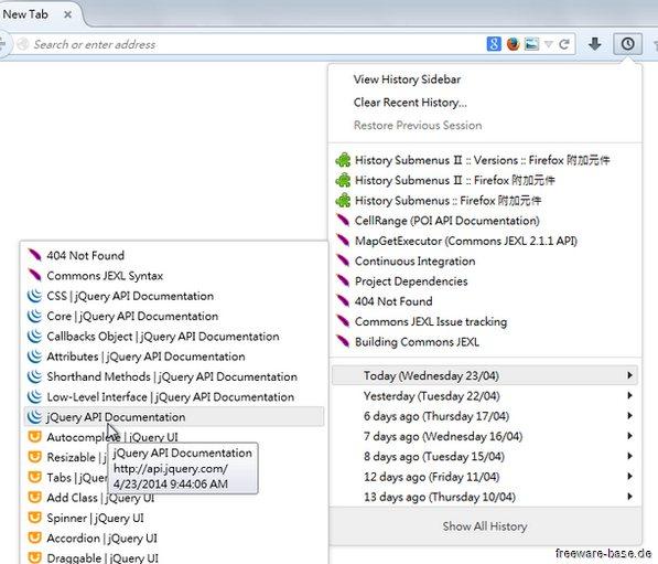 Vorschau History Submenus for Firefox - Bild 1
