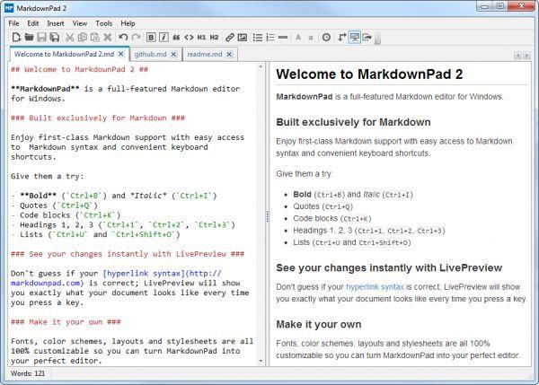 Vorschau MarkdownPad - Bild 1