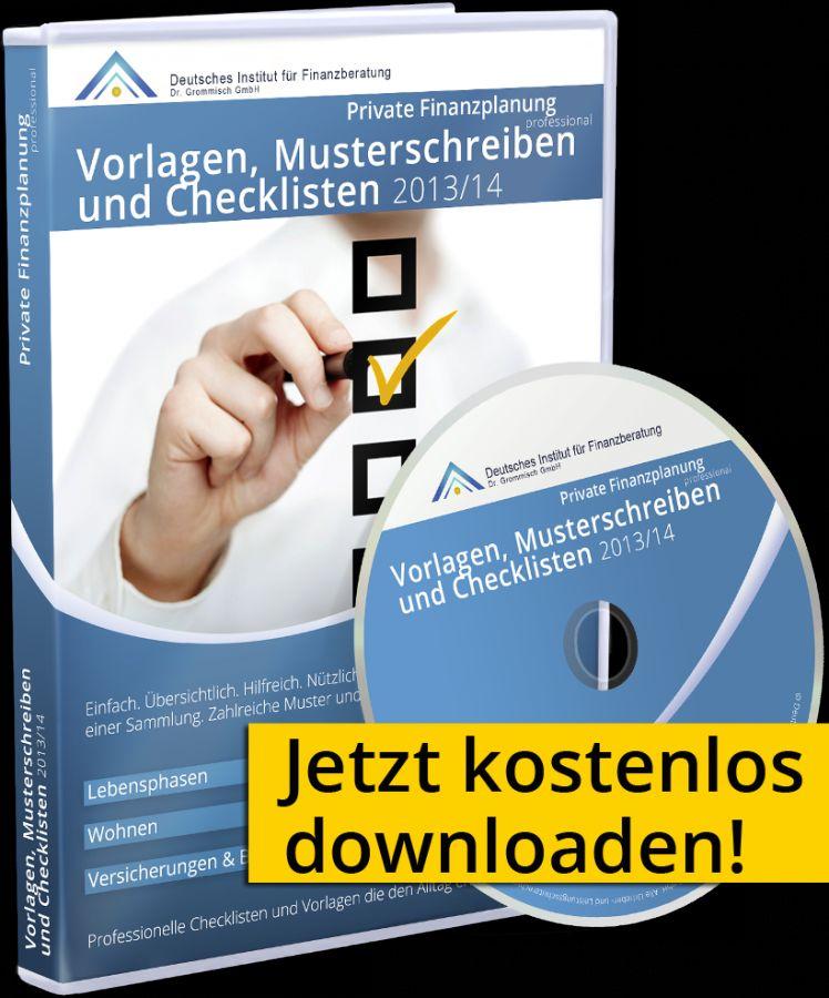 Vorschau Vorlagen, Musterschreiben und Checklisten 2013-14 - Bild 1