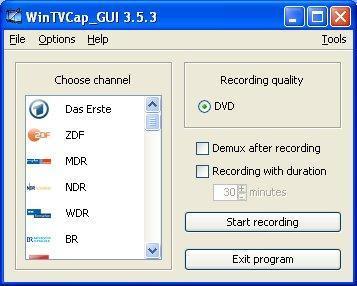 Vorschau WinTVCap GUI - Bild 1