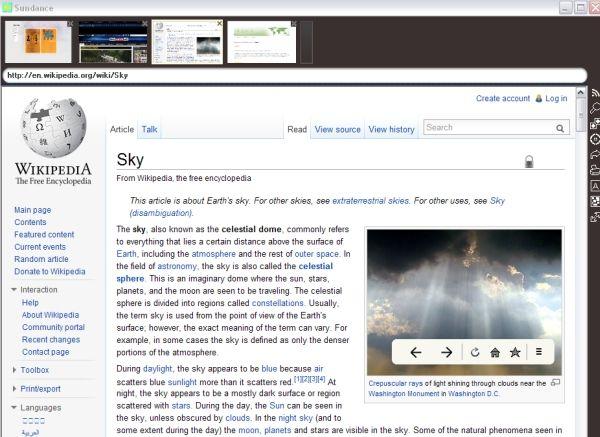 Vorschau Sundance web browser - Bild 1