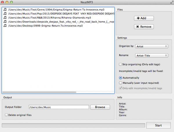 Vorschau NeatMP3 for Mac - Bild 1