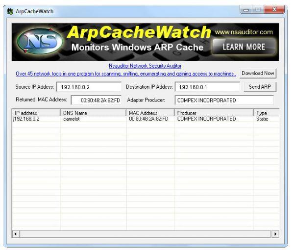 Vorschau ArpCacheWatch - Bild 1
