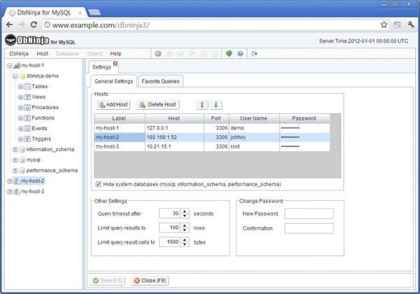 Vorschau DbNinja MySQL Manager - Bild 1
