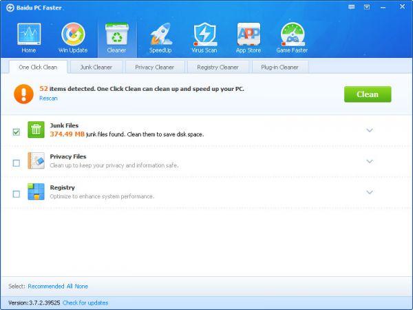 Vorschau Baidu PC Faster - Bild 1