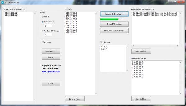 Vorschau IP List Generator - Bild 1