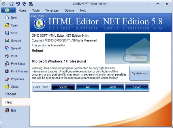 Vorschau HTML Editor .NET - Bild 1