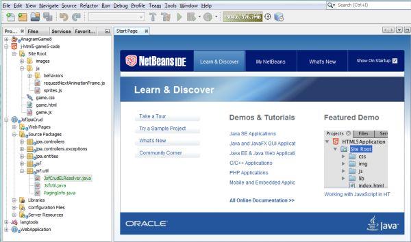 Vorschau NetBeans IDE - Bild 1