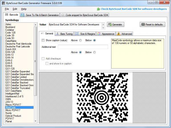 Vorschau Bytescout BarCode Generator - Bild 1