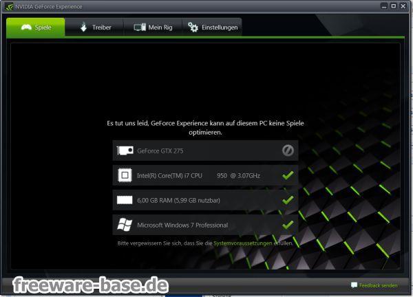 Vorschau NVIDIA GeForce Experience - Bild 1