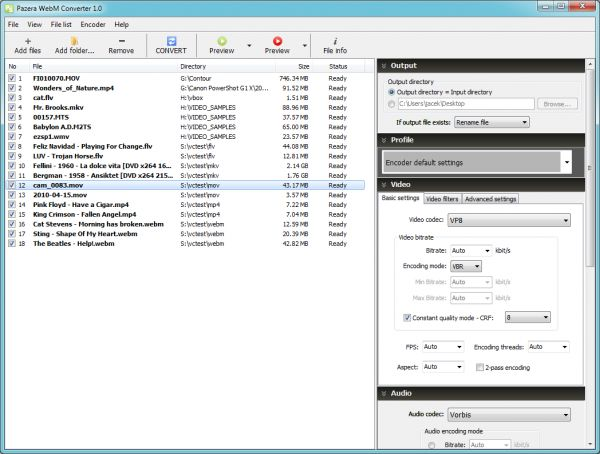 Vorschau Pazera WebM Converter - Bild 1