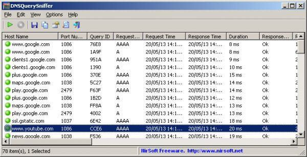 Vorschau DNSQuerySniffer - Bild 1