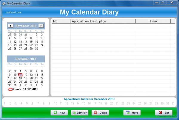 Vorschau SSuite Office - My Calendar Diary Portable - Bild 1