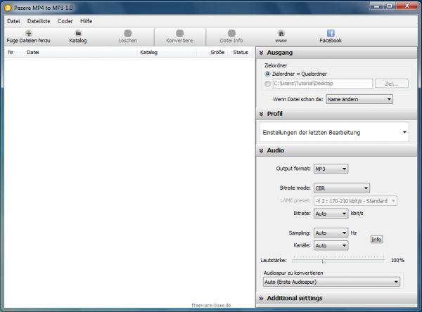 Vorschau Pazera Free MP4 to MP3 Converter - Bild 1