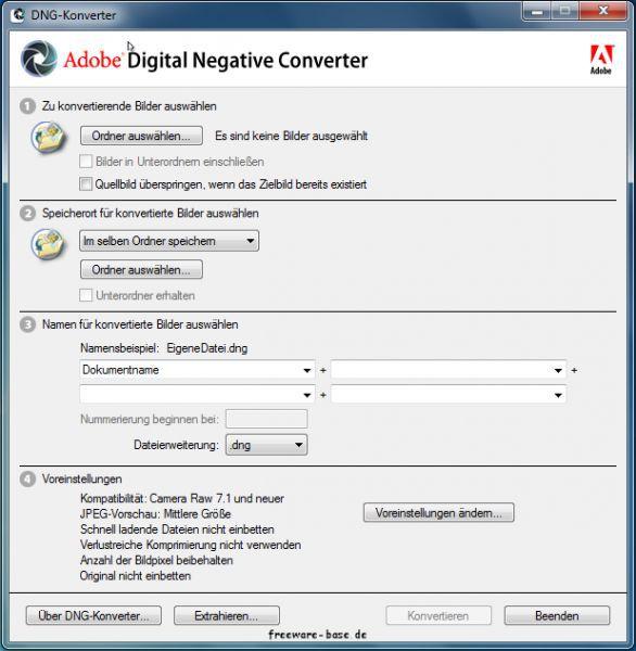 Vorschau Adobe DNG Converter - Bild 1