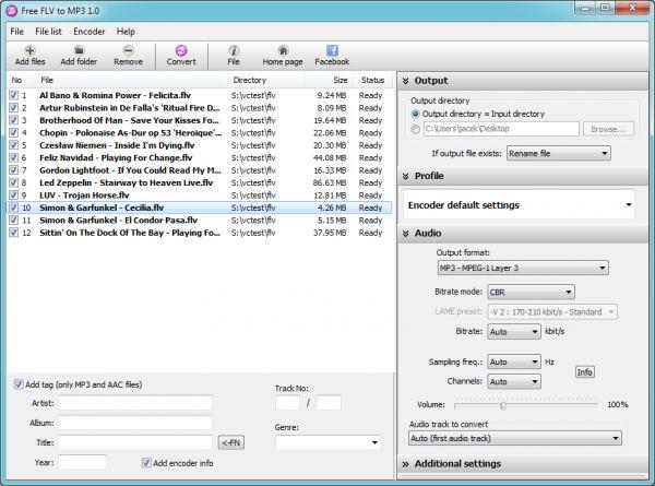 Vorschau Pazera Free FLV to MP3 Converter - Bild 1