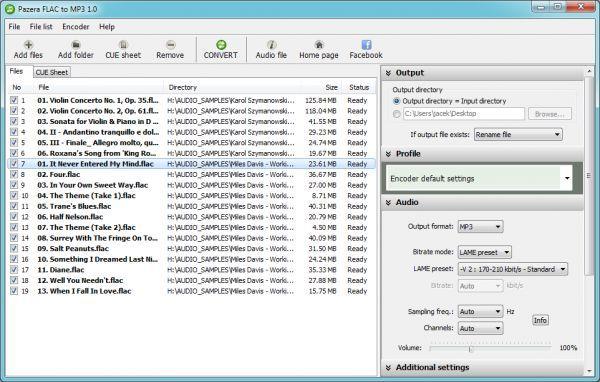 Vorschau Pazera FLAC to MP3 - Bild 1