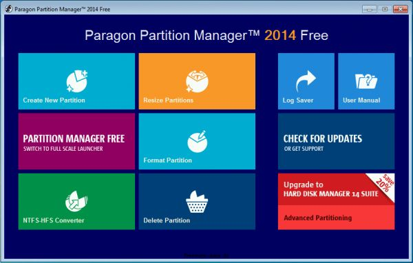 Vorschau Paragon Partition Manager 2014 Free Edition - Bild 1