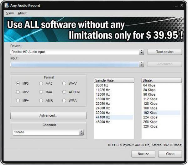 Vorschau Soft4Boost Any Audio Record - Bild 1