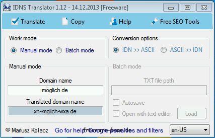 Vorschau Free IDNS Translator - Bild 1