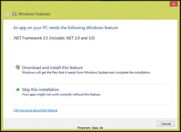 Vorschau Windows 8 Features Download Fix - Bild 1
