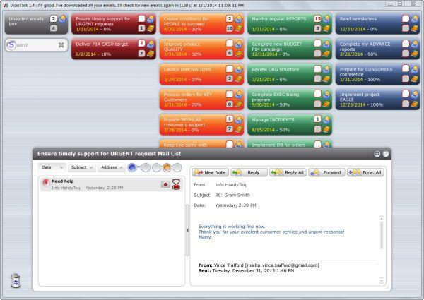 Vorschau VisioTask Free Task Management Software - Bild 1