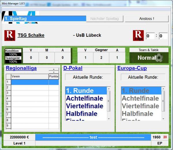 Vorschau Mini-Manager - Der Fussball-Manager - Bild 1